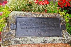 Epigrafe sulla tomba di Albrecht Durer, pittore famoso, a Norimberga fotografie stock libere da diritti