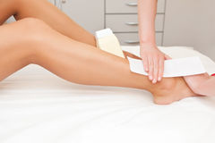 Epilation Stock Photo