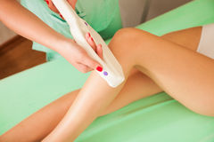 Epilation de laser Photographie stock libre de droits