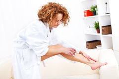 Epilation woman Royalty Free Stock Images