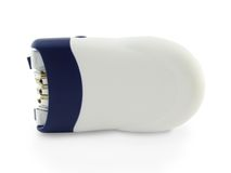 Epilator,epilation. Removal of hair by means of an epilator Royalty Free Stock Images