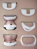 Epilator für das Entfernen des Körperhaares und des Gesichtshaares Stockfoto