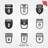 Epilator icons. Vector,  image,  illustration Stock Photo