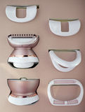 Epilator per l'eliminazione i capelli del corpo e dei capelli del fronte Fotografia Stock