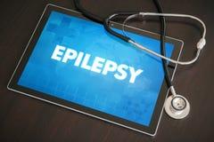 Epilepsi (neurologiczny nieład) diagnozy medyczny pojęcie obraz stock