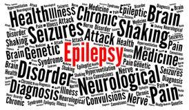 Epilepsi słowa chmury pojęcie ilustracja wektor