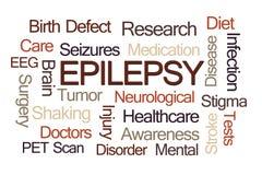 Epilepsi słowa chmura Fotografia Stock