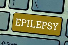 Epilepsia del texto de la escritura Cuarto del significado del concepto la mayoría de los asimientos imprevisibles comunes del de foto de archivo libre de regalías