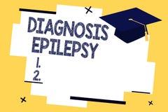 Epilepsia do diagnóstico da exibição do sinal do texto Desordem conceptual da foto em que atividade de cérebro se torna anormal ilustração do vetor