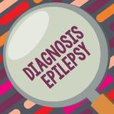 Epilepsia do diagnóstico da exibição do sinal do texto Desordem conceptual da foto em que atividade de cérebro se torna anormal ilustração stock