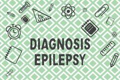 Epilepsia do diagnóstico do texto da escrita Conceito que significa a desordem em que atividade de cérebro se torna anormal ilustração do vetor