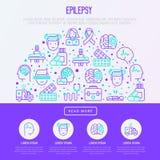 Epilepsy concept in half circle