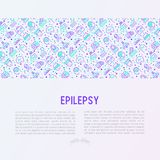 Epilepsy concept with thin line icons