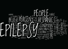 Epilepsy And The Hispanic Community Word Cloud Concept stock illustration
