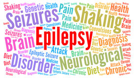 Epilepsy word cloud illustration
