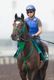 Epiphaneia with Yuichi Fukunaga at Sha Tin Racecourse, Hong Kong Royalty Free Stock Photo
