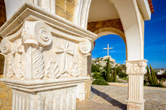 Epiphanios chapel,ayia napa cyprus. Saint Epiphanios is a chapel which is devoted to the Byzantine Bishop of Salamis. From this location there is an excellent Royalty Free Stock Photo