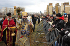 Epiphany 6 av Januari, 2012, Sofia Royaltyfri Foto