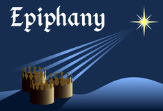 Epiphany background vector Royalty Free Stock Image