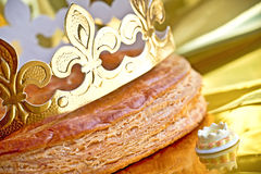 Epiphany cake or galette des rois Royalty Free Stock Images