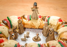 Epiphany cake, kings cake, or rosca de reyes Stock Photography