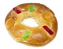 Epiphany Cake. Typical spanish seasonal pastry Royalty Free Stock Photos