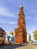 Epiphany Cathedral with a bell tower on Bauman Street. Kazan, Ru Royalty Free Stock Photography