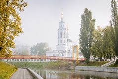 Epiphany Cathedral in mist Royalty Free Stock Images