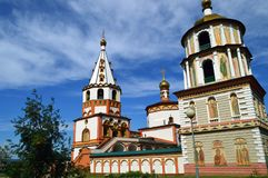 Cathedral of the Epiphany Irkutsk royalty free stock images