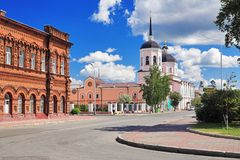 Epiphany Cathedral in Tomsk, Russia Stock Photos