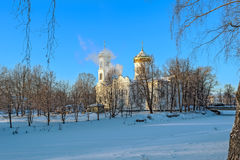 Epiphany Cathedral in Vyshni Volochyok, Russia stock photography