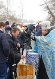 Epiphany celebration in Kiev, Ukraine Royalty Free Stock Photography