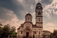 The Epiphany Church in Banja Luka. In the evening Stock Photos