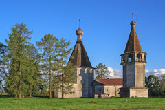 Epiphany church and belfry in North Russia Stock Photo