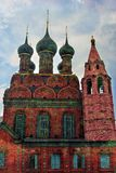 Epiphany Church in Yaroslavl Russia. Artistic collage Stock Photos