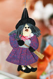 Epiphany decoration. A handmade epiphany witch doll in a italian house Stock Photography
