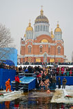 Epiphany (Kreshchenya) in Kiev, 2013 Stock Photography