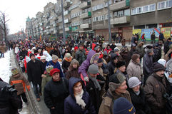 Epiphany procession Royalty Free Stock Image