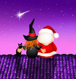 Epiphany and Santa Claus Stock Image
