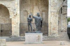 Epiphany St Remigy of the king Hlodvig (1896). Abbey Saint-Remi. Stock Photos
