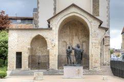 Epiphany St Remigy of the king Hlodvig (1896). Abbey Saint-Remi. Reims, France stock photo