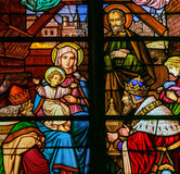 Epiphany Stained Glass - Three Kings Stock Photos