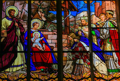 Epiphany Stained Glass in Tours Cathedral Stock Photos