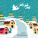Epiphany. Vector Illustration of Epiphany background Stock Photography