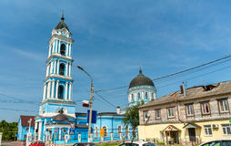Epiphanydomkyrkan i Noginsk - Moskvaregion, Ryssland Royaltyfria Bilder