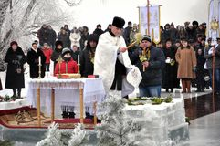 Epiphanyen av Herren i byn av Mukhavka Arkivfoto