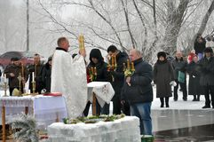 Epiphanyen av Herren i byn av Mukhavka Royaltyfri Fotografi