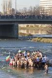 Epiphanyritual i Plovdiv, Bulgarien Fotografering för Bildbyråer