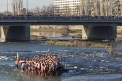 Epiphanyritual i Plovdiv, Bulgarien Royaltyfri Bild