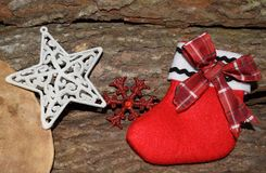 Epiphanysocka med den röda och vita stjärnan Royaltyfri Foto